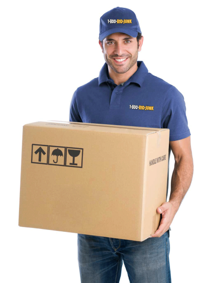 Man providing junk removal services in NJ