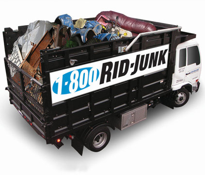 Truck used for junk removal services in Bergen County, NJ